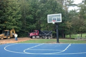 Basketball Court North Basket Finished Sept 2014