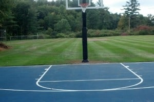 Basketball Court South Basket Finished Sept 2014