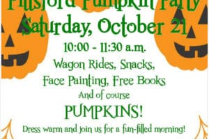 2017 Pittsford Pumpkin Party, Sat., 10/21 @ 10-11:30 am