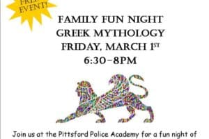 3-Family Fun Nights 2019 NEXT EVENT is Friday, 3/1 @ the VT Police Academy Gym, 6:30-8 pm
